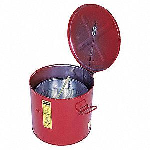 WASH TANK W/ BASKET, 3.5 GAL, SELF-CLOSE