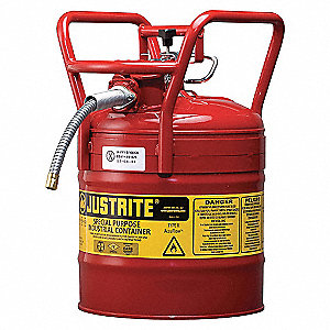 TYPE II DOT SAFETY CAN, 5 GAL, 5/8 HOSE