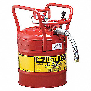 TYPE II DOT SAFETY CAN, 5 GAL, 1IN HOSE