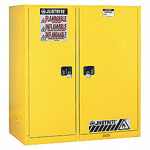 DOUBLE-DUTY SAFETY CABINET W/ ROLLERS