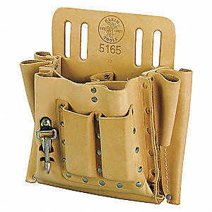POUCH ELECTRICIAN LEATHER 10IN X 10