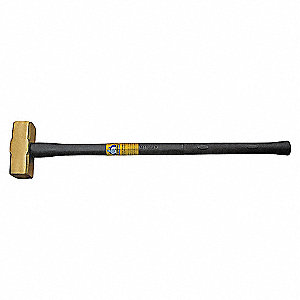 BRASS SLEDGE HAMMER-RUBBER GRIP 4LB