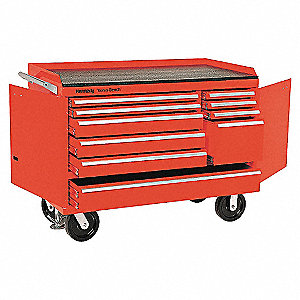 10 DR 48 IN. MOBILE BENCH RED