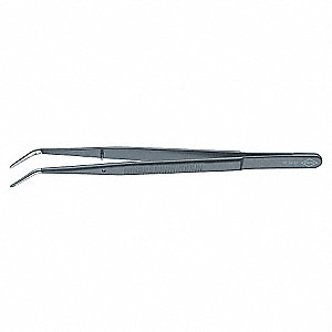 TWEEZERS RNDPN BENT SRTD 6IN BLK