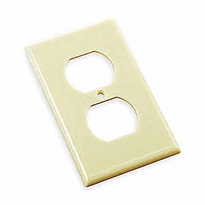 WALLPLATE O/S 1G DPLX RCPTCL IVORY