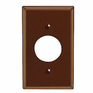 COVER PHENOLIC SINGLE RECEPT. BROWN