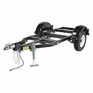 MED 2-WHEEL ROAD TRAILER + HITCH