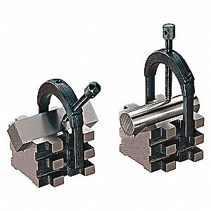 V-BLOCK + CLAMP MATCH PAIR