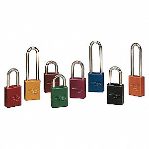 PADLOCK 3IN SHACKLE RED