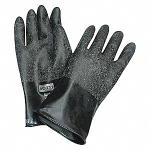 GLOVES BUTYL ROUGH GRIP SIZE 11