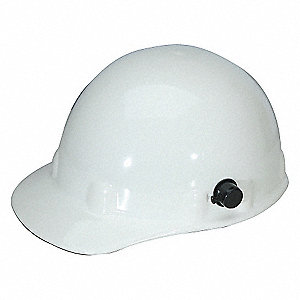 HARD HAT W/3R AND QUICK LOCK WHITE