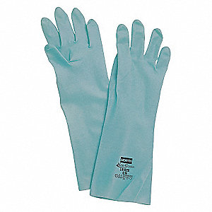 GLOVES NITRILE UNSUPPORTED GRN SZ10