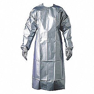 SILVER SHIELD COAT APRON X-LARGE