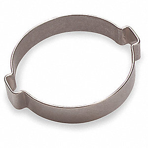 HOSE CLAMP,SS,2EAR,1-3/16IN,PK100