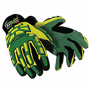 Cut Resistant Gloves, ANSI/ISEA Cut Level 5, SuperFabric® Lining, Yellow/Green, L, PR 1