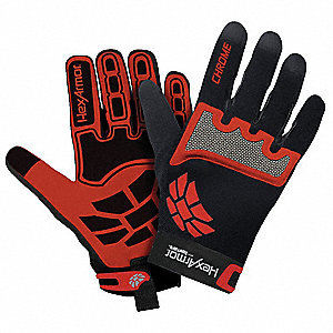 Cut Resistant Gloves, ANSI/ISEA Cut Level 5 Lining, Black, Red, L, PR 1
