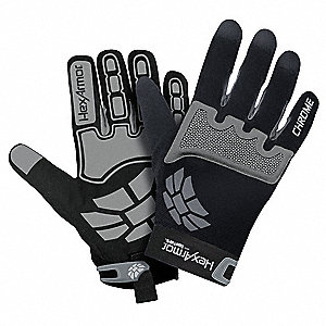 Cut Resistant Gloves, ANSI/ISEA Cut Level 5 Lining, Black, Gray, L, PR 1