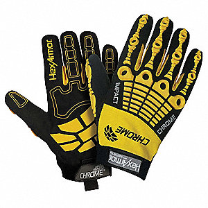 Cut Resistant Gloves, ANSI/ISEA Cut Level 5, SuperFabric® Lining, Yellow/Black, M, PR 1