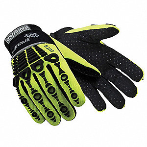 Cut Resistant Gloves, ANSI/ISEA Cut Level 5, SuperFabric® Lining, Green/Black, 2XL, PR 1