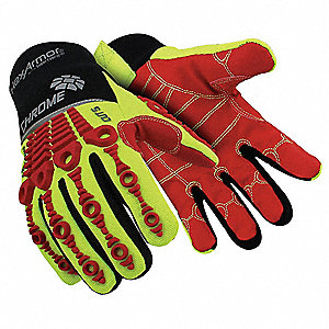 Cut Resistant Gloves, ANSI/ISEA Cut Level 5, SuperFabric® Lining, Yellow/Red, XL, PR 1