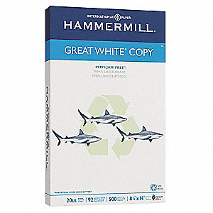 "8-1/2"" x 14"" Recycled Multipurpose Paper with Matte Finish, White&#x3b; PK500"