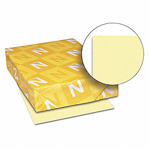 "8-1/2"" x 11"" Cover Stock Paper with Matte Finish, Yellow&#x3b; PK250"