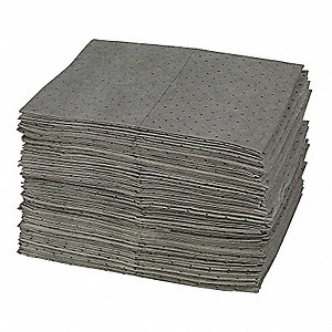 "19"" x 15"" Medium Absorbent Pad for Universal, Gray, 100PK"