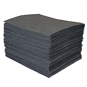 "19"" x 15"" Light Absorbent Pad for Universal, Gray, 100PK"