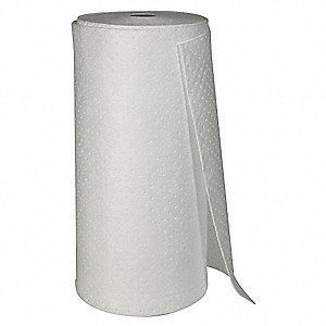 Heavy, 1 Ply, Dimpled Absorbent Roll, Fluids Absorbed: Oil Only/Petroleum, 144 ft. Length