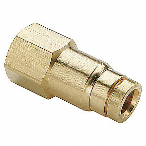 FEMALE BRASS CONNECTOR 3/8ODX3/8NPT