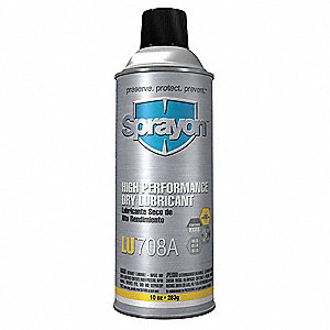 Dry Film Lubricant, -40°F to 572°F, PTFE, 16 oz. Aerosol Can