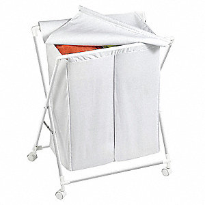 Folding Hamper wRemovable Bag, 2-Comp