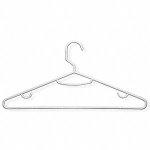 Recycled Plastic Tubular Hanger with White Finish&#x3b; PK15