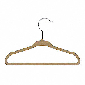 KIDS VELVET SUIT HANGER,TAN,PK 10
