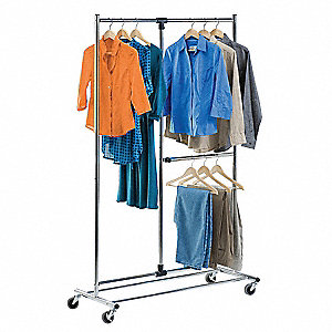 Adjustable Garment Rack, Dual Bar