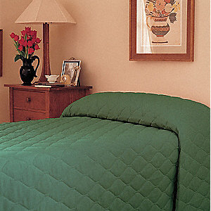 "102"" x 71"" Twin Bedspread, Forest Green"