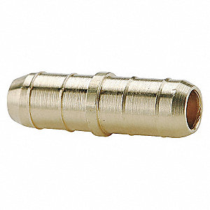 UNION BARB BRASS TUBE 1/4