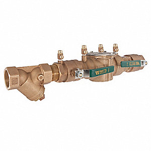 Double Check Valve Assembly, Bronze, Watts 007 Series, FNPT Connection
