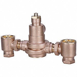 "1-1/4"" FNPT Inlet Type Mixing Valve, Brass, 110 gpm"