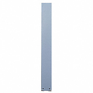 "Pilaster wtih Trim Shoe, Phenolic, Dove Gray, 7"" W X 70"" H"