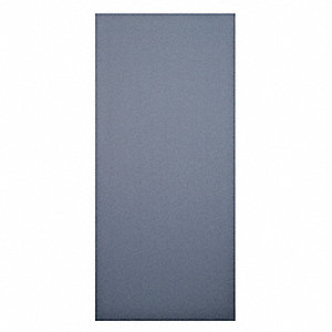 "Panel Toilet Partition, Solid Plastic Polymer, Black, 55"" x 22"""