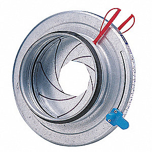 Round Damper,Manual,4 In