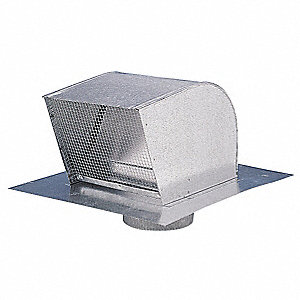 "17-1/2"" x 12"" Galvanized Steel Roof Cap with 21-3/4 Flange Size (In.)"