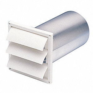 "6"" x 1-1/4"" Plastic Louvered Shutter with 1 Flange Size (In.)"