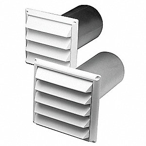 "9-1/8"" x 1"" Plastic Supply And Exhaust Hood with 2 Flange Size (In.)"