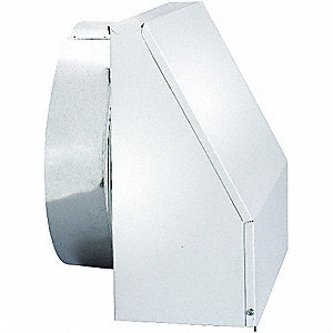 "7"" x 4"" Aluminum Wall Cap  with 1 Flange Size (In.)"