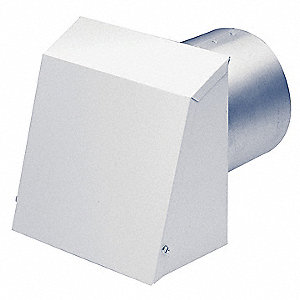 "11"" x 6-1/2"" Aluminum Wall Cap  with 1 Flange Size (In.)"