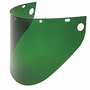 Faceshield Window,Propionate,Dk Green