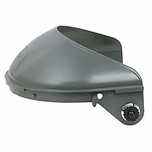 "Black Faceshield Headgear, 4"" Crown Visor Height, Plastic Visor Material"