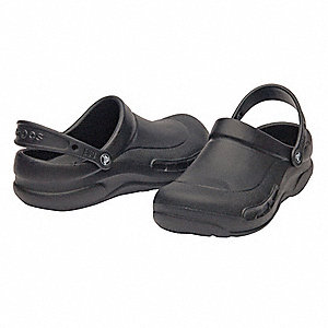 Men's Slip-On Shoes with Strap, Black, Size 10